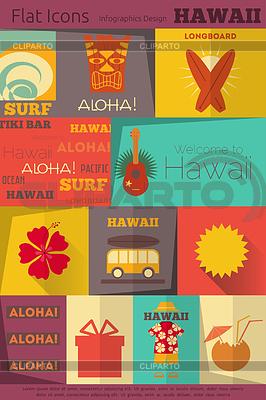hawaii stock fotos und vektorgrafiken cliparto. Black Bedroom Furniture Sets. Home Design Ideas