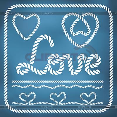 Herzform Seil Knoten Set | Illustration mit hoher Auflösung |ID 4363827
