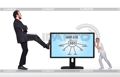 Seo monitor z systemem | Foto stockowe wysokiej rozdzielczości |ID 4111309