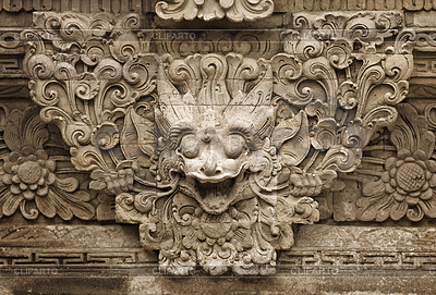Stone mythical creature - decoration of Bali temple | Foto stockowe wysokiej rozdzielczości |ID 4138535