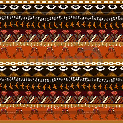 Seamless ethnic pattern with elements of Egyptian | 向量插图 |ID 4305210