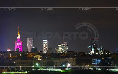 Warschau Stadtbild bei Nacht | Foto mit hoher Auflösung |ID 4623938