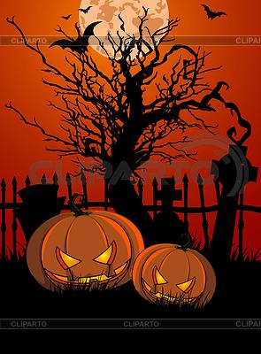 HalloweenTombstone und Kürbisse | Stock Vektorgrafik |ID 4360812