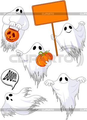 Set von netten Geistern | Stock Vektorgrafik |ID 4404930