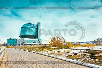 Gebäude der Nationalbibliothek von Belarus in Minsk | Foto mit hoher Auflösung |ID 4294849