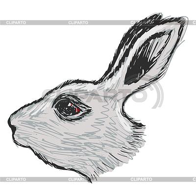Рисовать голову кролика