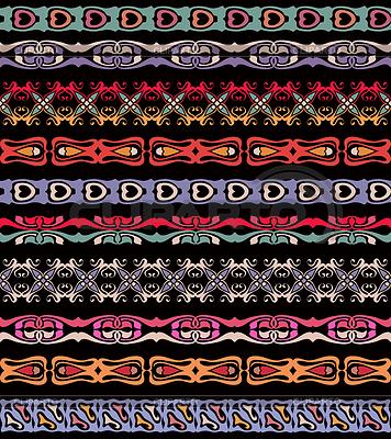 Set von nahtlosen lase trimmt Grenze Muster | Stock Vektorgrafik |ID 4258451