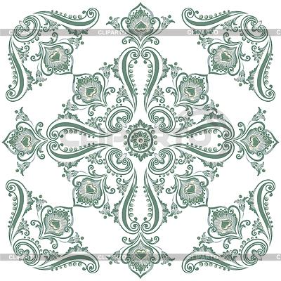 Flora vintage pattern, decorative ornament motif | Klipart wektorowy |ID 4322586