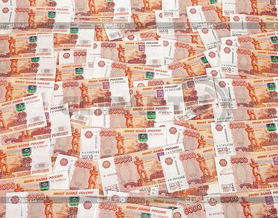 Haufen von fünftausend russische Rubel-Banknoten als | Foto mit hoher Auflösung |ID 4139989