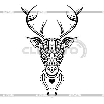 Картинка оленя с рогами