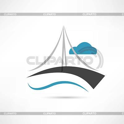 Große Brücke Symbol | Stock Vektorgrafik |ID 4108495