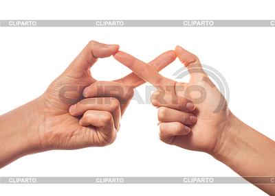 Sign infinity by two human hands | Foto stockowe wysokiej rozdzielczości |ID 4131435
