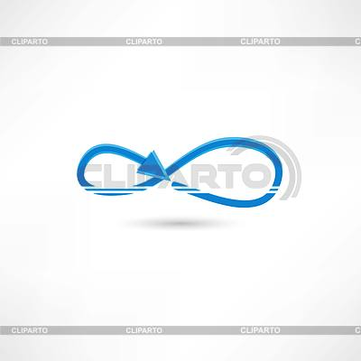 Blue infinite icon | Klipart wektorowy |ID 4133550