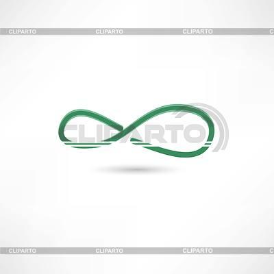 Grün unendlich simbol | Stock Vektorgrafik |ID 4133554