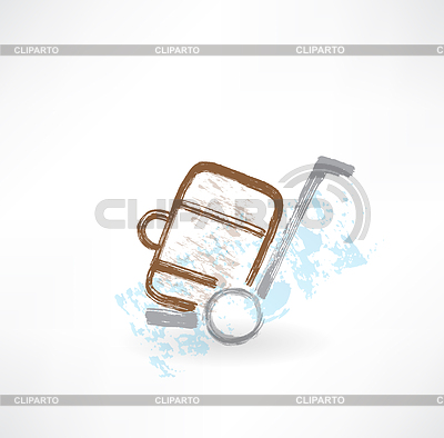 Gepäck auf Rädern Grunge-Ikone | Stock Vektorgrafik |ID 4133588