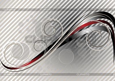 Czerwony i srebrny faliste paski na jasnym tle paski | Klipart wektorowy |ID 4211047