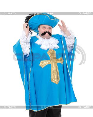 Musketier in türkis blaue Uniform | Foto mit hoher Auflösung |ID 4099997