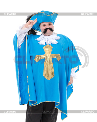 Musketier in türkis blaue Uniform | Foto mit hoher Auflösung |ID 4099999