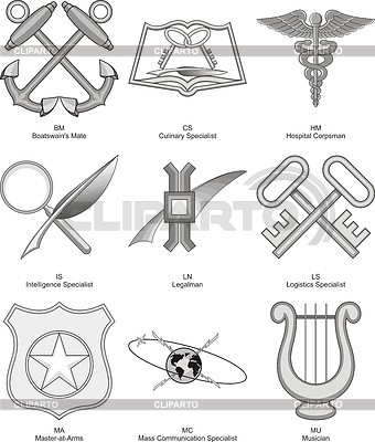 US Navy Różne wskaźniki 1 | Klipart wektorowy |ID 4100891