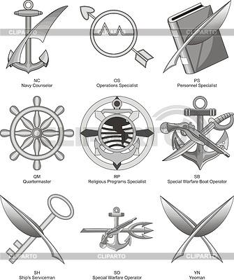 US-Marine Diverses Bewertungen 2 | Stock Vektorgrafik |ID 4100895