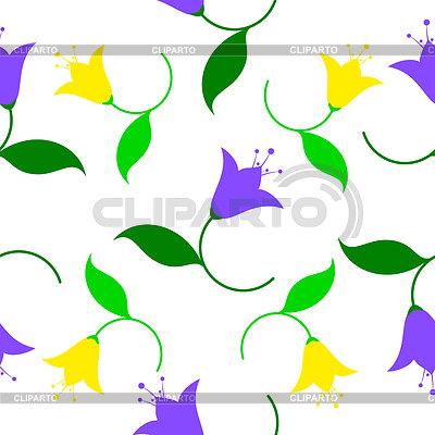 Бесшовные фон с цветами клим
