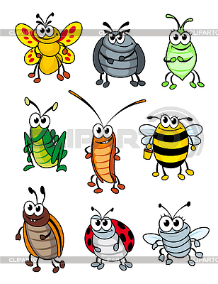 Cartoon-Insekten | Stock Vektorgrafik |ID 4087438