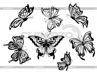 Schöne Schmetterlinge | Stock Vektorgrafik |ID 4094648