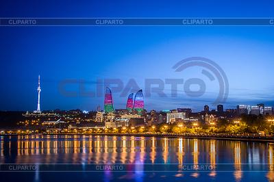Nacht Foto von Baku Aserbaidschan | Foto mit hoher Auflösung |ID 4340748