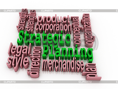 Strategische Planung und verwandte Wörter | Illustration mit hoher Auflösung |ID 4298876