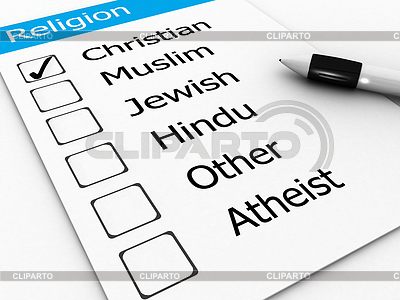 Großen Weltreligionen - Christen, Muslime, Juden, | Illustration mit hoher Auflösung |ID 4299978