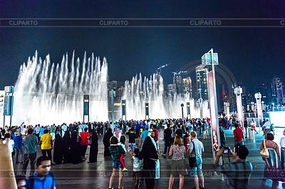 Dubai area overlooks famous dancing fountains | Foto stockowe wysokiej rozdzielczości |ID 4263538