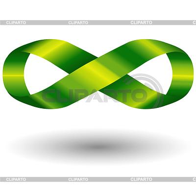 Zielony symbol nieskończoności | Klipart wektorowy |ID 4129517