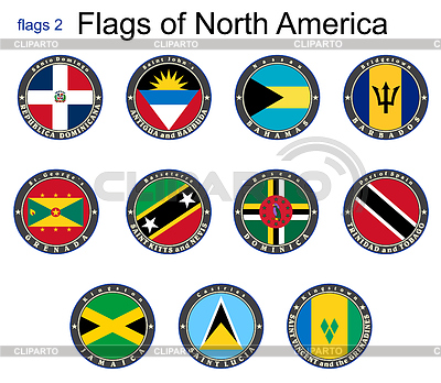 Flags of North America.Flags | Stock Vektorgrafik |ID 4173139