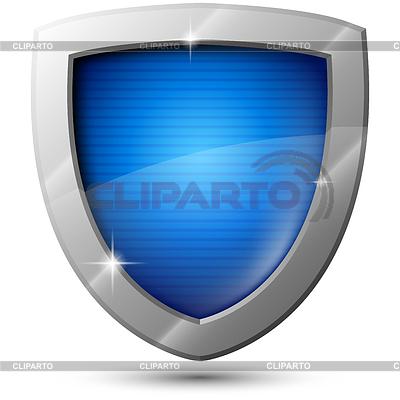 Glossy shield vector