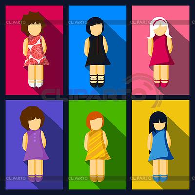 иконки девушки: