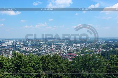 Widok na miasto we Lwowie ptaka widok `s-eye | Foto stockowe wysokiej rozdzielczości |ID 4380047