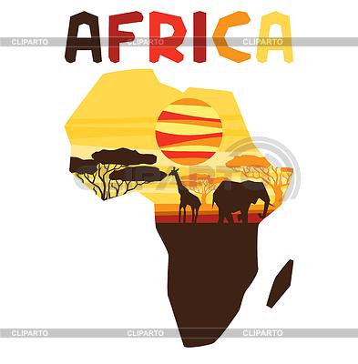 Afrykański pochodzenie etniczne na mapie | Klipart wektorowy |ID 4344311