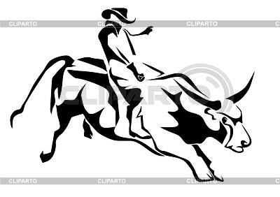 Bull riding | Klipart wektorowy |ID 4403690