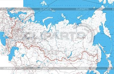 Mapa Rosji z rzek i miast | Stockowa ilustracja wysokiej rozdzielczości |ID 4205466