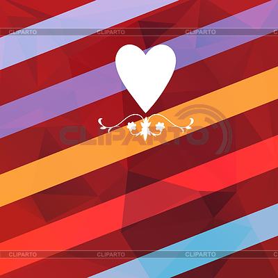 Karta urlopowa z sercem   Stockowa ilustracja wysokiej rozdzielczości  ID 4124537