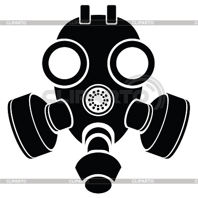 Sylwetka masce gazowej | Klipart wektorowy |ID 4326288