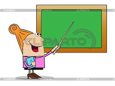 Иллюстрация школьного учителя стоя