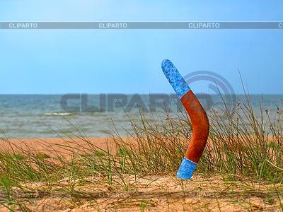 Boomerang eingewachsene Sandstrand | Foto mit hoher Auflösung |ID 4258389