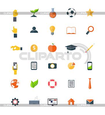 Set von Icons Flach | Stock Vektorgrafik |ID 4380839