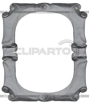 Isolated empty silver handmade frame | Foto stockowe wysokiej rozdzielczości |ID 4242228