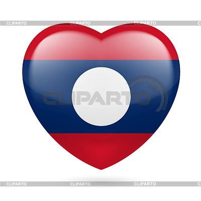 Heart icon of Laos | Klipart wektorowy |ID 4222893