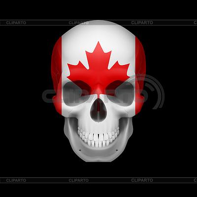 Kanadische Flagge Schädel | Stock Vektorgrafik |ID 4316349