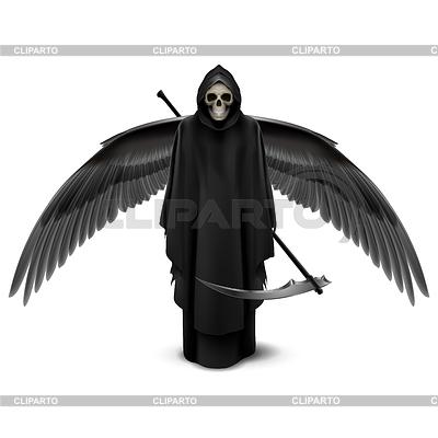 Zwei geflügelte Engel des Todes | Stock Vektorgrafik |ID 4329469