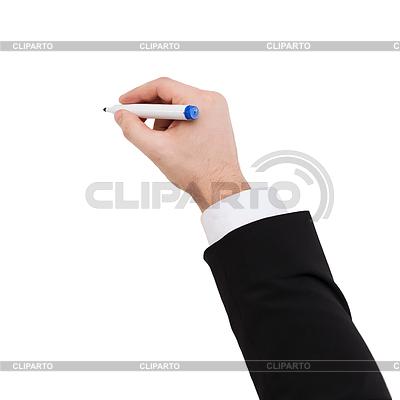 Businessman drawing to something | Foto stockowe wysokiej rozdzielczości |ID 4446095