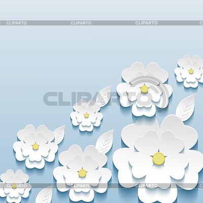 Piękne modne tapety z kwiatami sakura 3D | Klipart wektorowy |ID 4350788